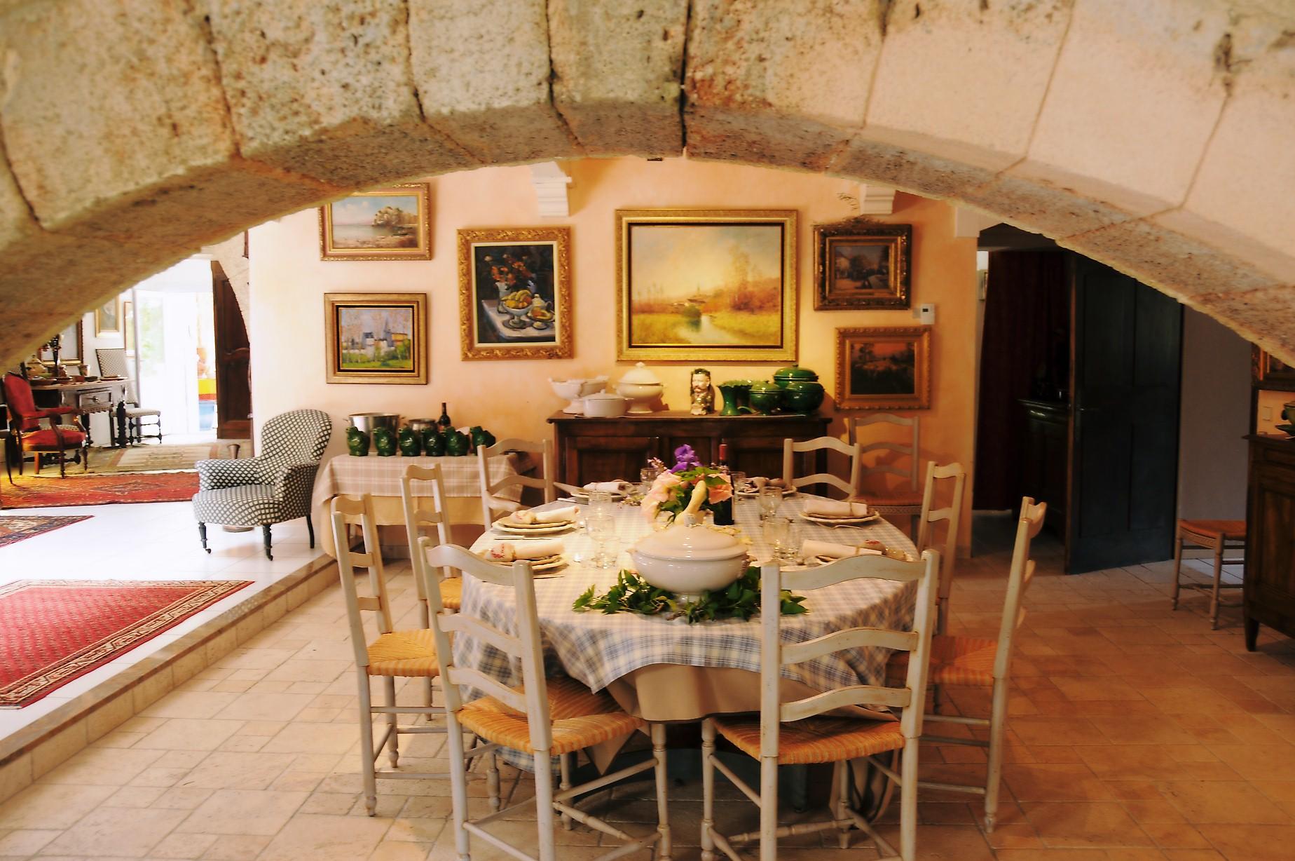 La salle à manger Moulin de Bonfilhon