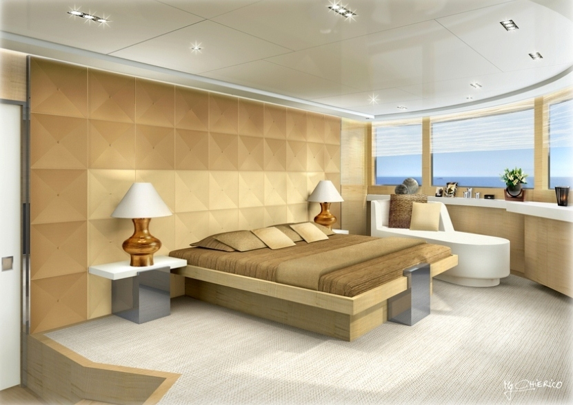 Chambre à coucher du COUACH FLY 5000 « LA PELLEGRINA »