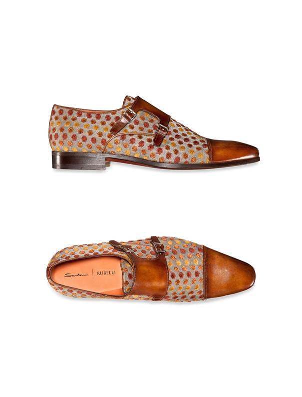 Santoni collabore avec Rubelli, collection Homme