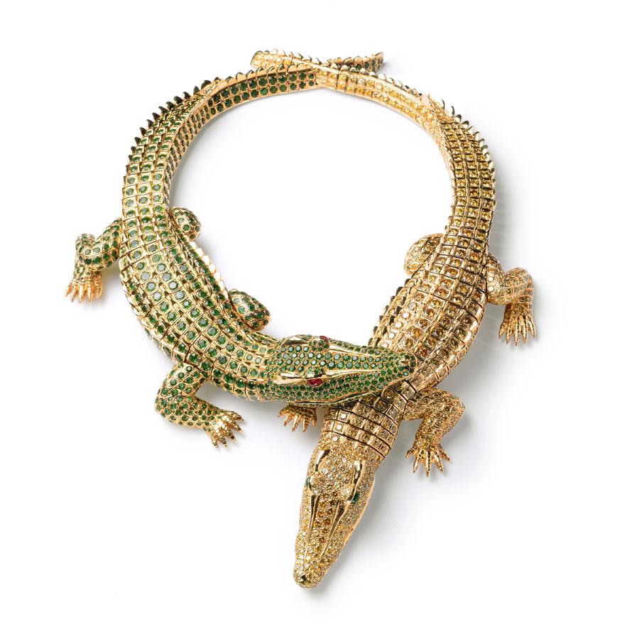 Collier Crocodiles Cartier Paris, 1975, en or, 1 023 diamants