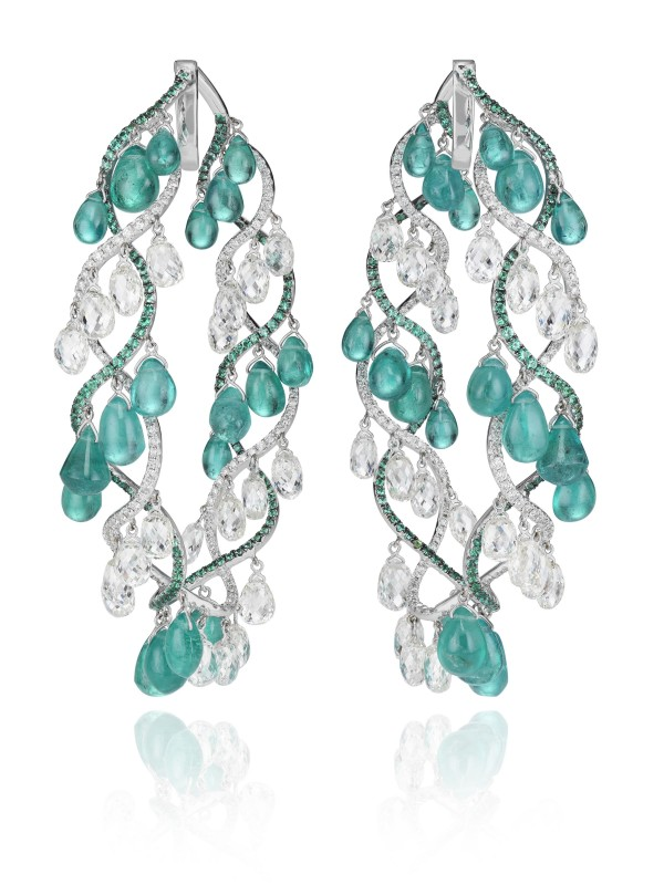 Emerald and Diamonds earrings