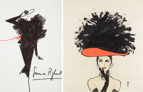 Dessins de mode en vente à Drouot