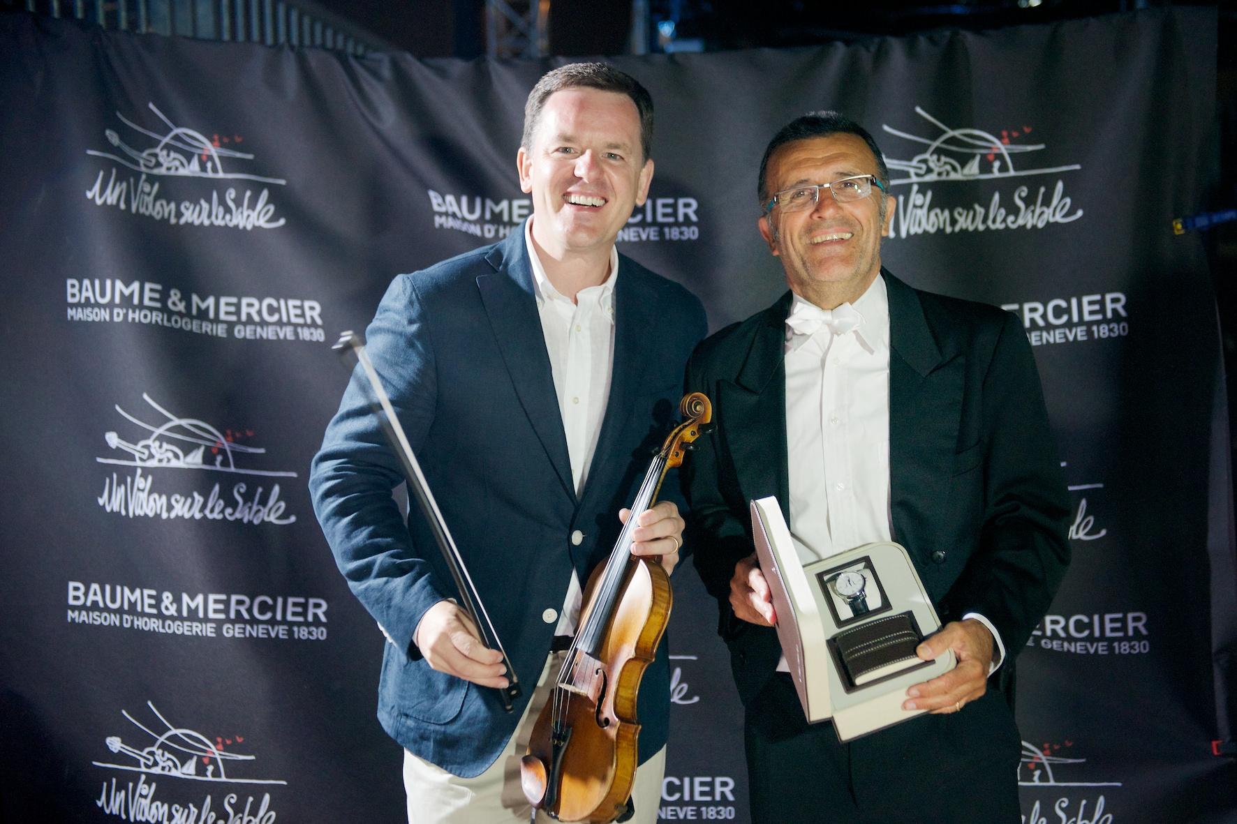 concert violon sur le sable, baume & mercier, royan 2012