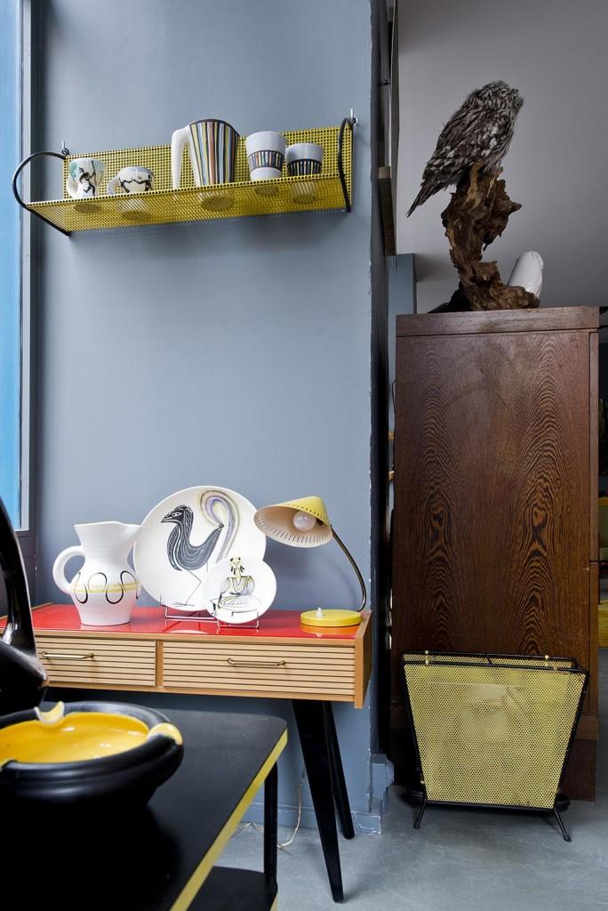 Commode_Annees_60_avec_ceramiques Andre Baud Roger Capron et Roger Picault