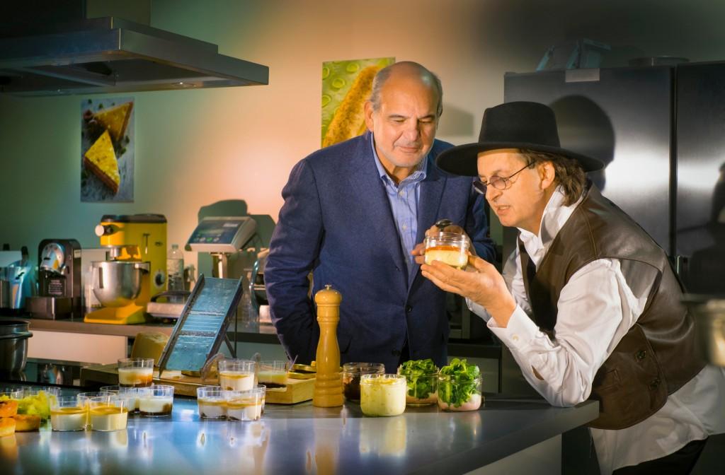 Marc Veyrat et Gilles Terkazou