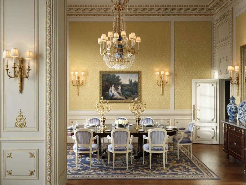 Salle a manger - Suite Imperiale - Shangri-La Hotel Paris