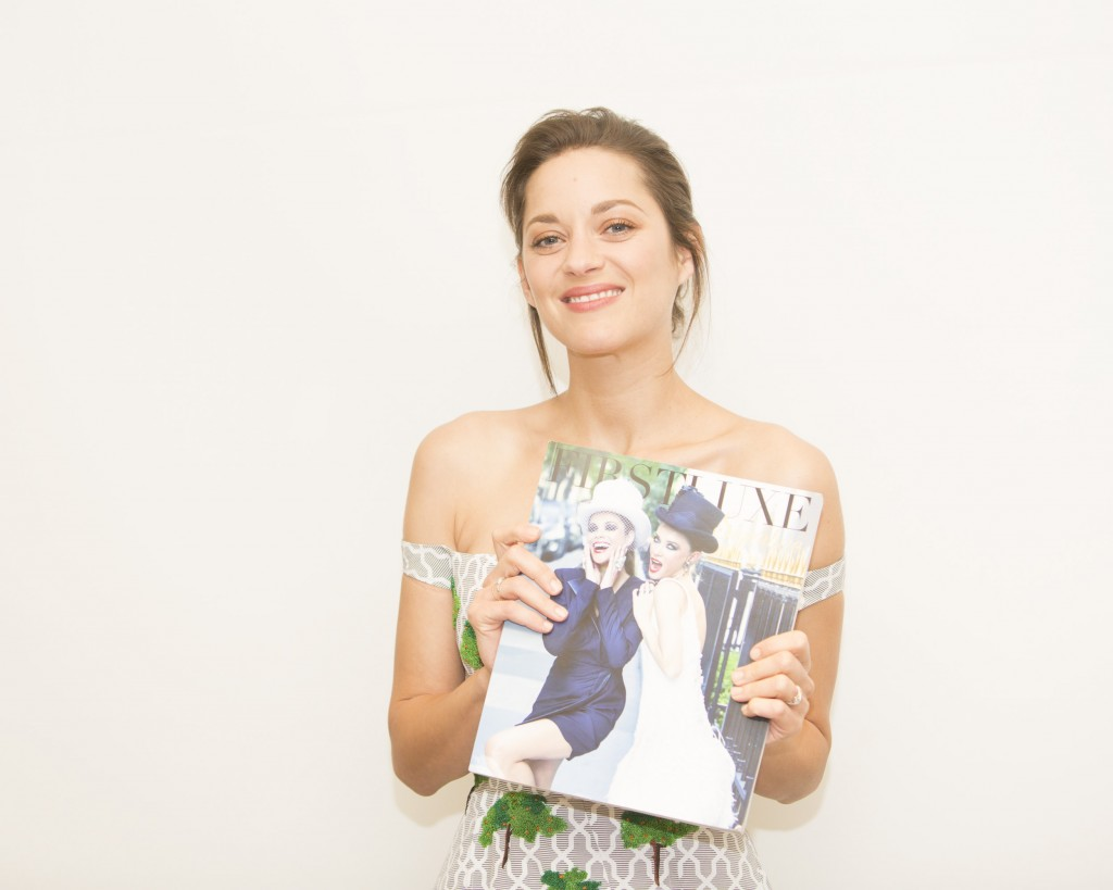 Marion Cotillard in LA promoting the movie Two Days and One Night.