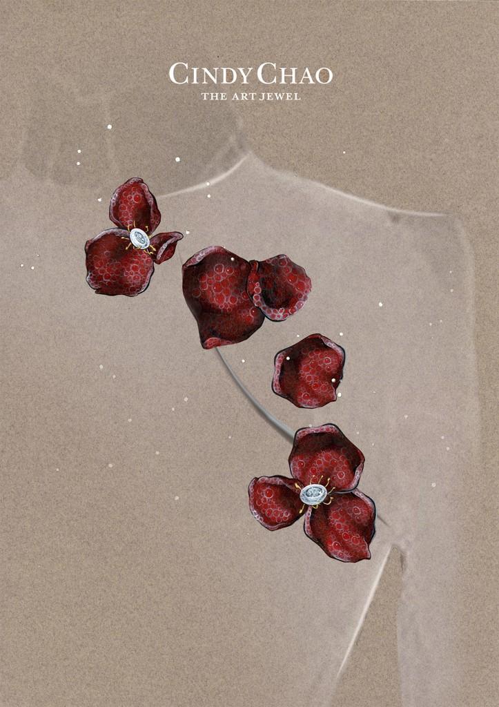 [Sketch] Ruby Rose Brooch Set