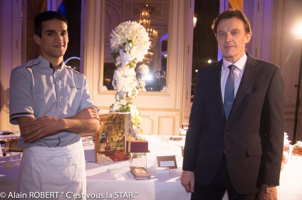 Mourad Rachdi et Christian David, Directeur du Grand Véfour