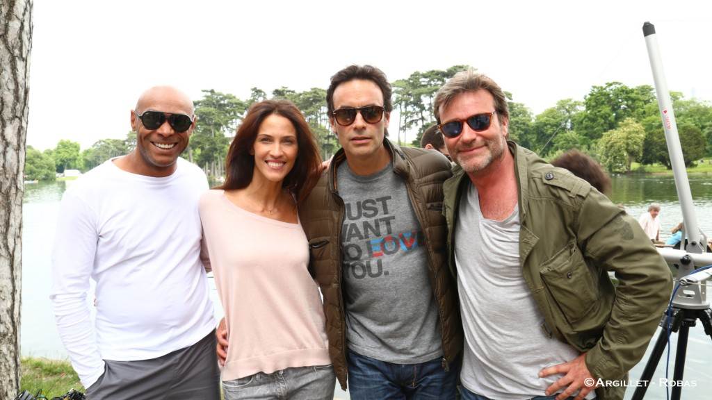 Denis Maréchal,Linda hardy, Anthony Delon et Dominic Bachy.
