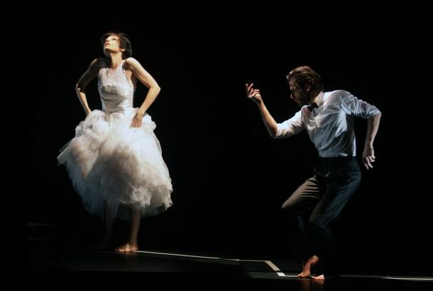 Pietragalla dans sa robe de mariée réalisée par Zélia / Je t'ai rencontré par hasard