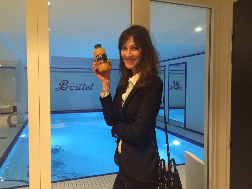 Mareva Galanter lors de l'inauguration de l'Hôtel Paris Bastille Boutet.