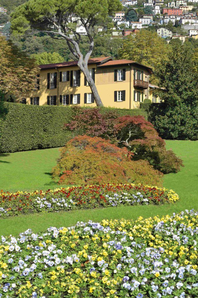 Villa Garrovo, vue du jardin