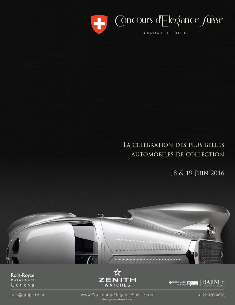 Concours d'Elegance Suisse Affiche FR