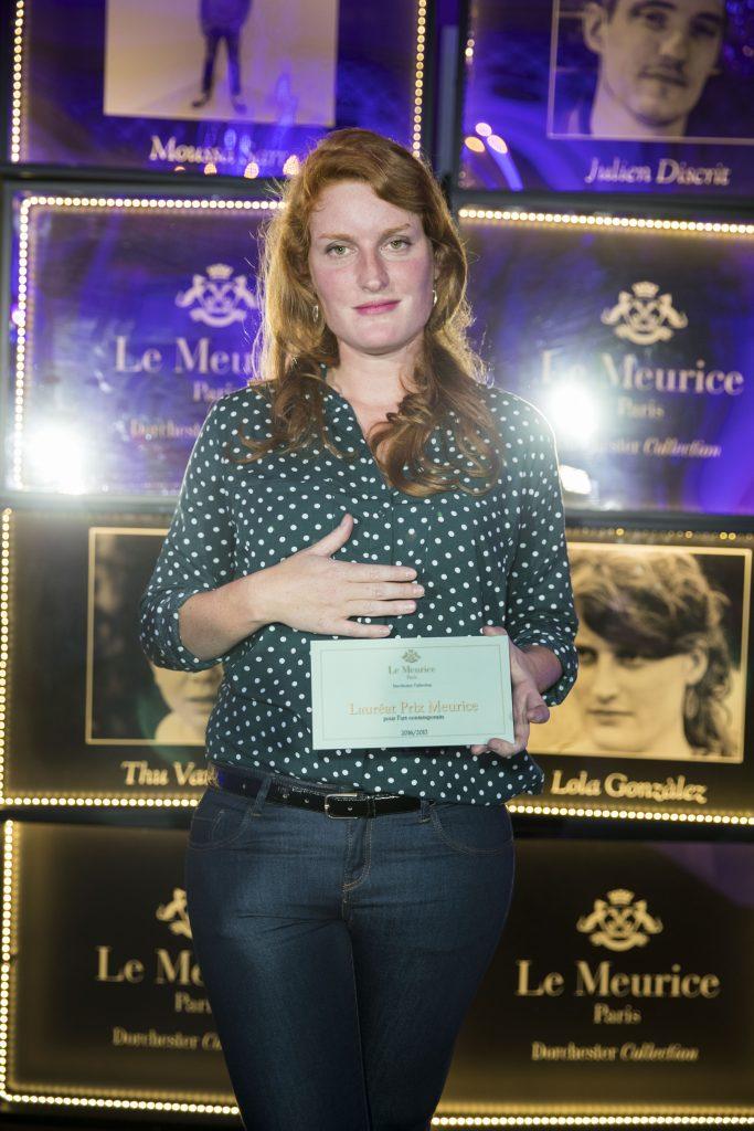 Lola Gonzales - Remise du Prix Meurice pour l'art Contemporain ˆ Paris le 10 octobre 2016.