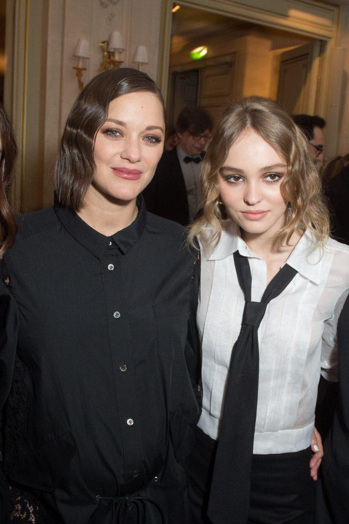 Marion Cotillard et Lily Rose Depp - Soiree des Revelations dans les Salons Chaumet