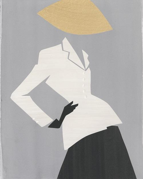 Ensemble Bar, printemps-été 1947, ligne Corolle. Bar Suit, spring-summer 1947, Corolle line.© Mats Gustafson