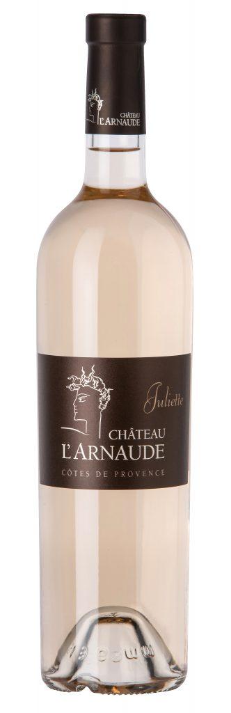 Château L'Arnaude, Juliette. 50 % cinsault, 45 % grenache, 5 % rolle. 9,90 euros départ cave.www.chateaularnaude.com